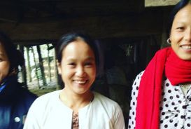 Lendwithcare borrower, Ha Thi Thieu (centre), with two friends
