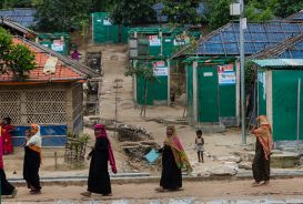 Women walking through refugee camp in Cox's Bazar, Bangladesh.jpg