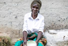 Portrait of Mary, a farmer in Zambia