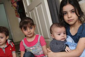 Newly arrived refugee children from Syria © CARE / Kathryn Richards