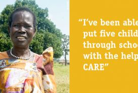 Florence Okello, 58, has ten children and looks after ten orphans