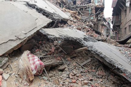 Destruction in Khokana village, Nepal © CARE/ Glyn Riley