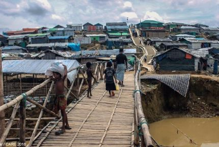 View of Kutupalong refugee camp in Bangladesh