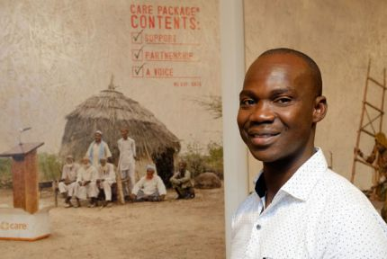 Angelo Sakondo pictured at the CARE Then and Now exhibition