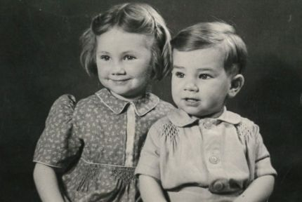 Gillian Roberts and her brother Christopher