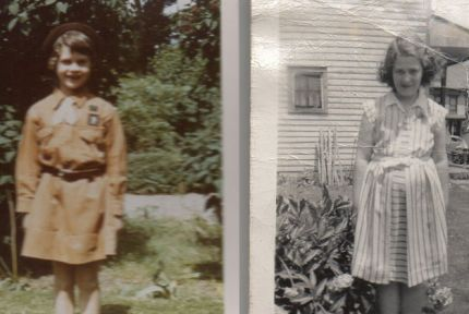 Photos of Janet and Shirley as young girls