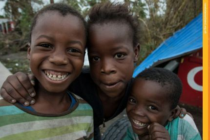 CARE in Action June 2019 cover pic: children in Mozambique