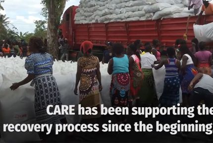Clip from Cyclone Idai video about CARE response