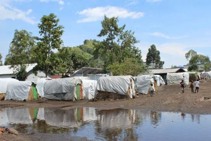 Tent homes at Lac Vert refugee camp