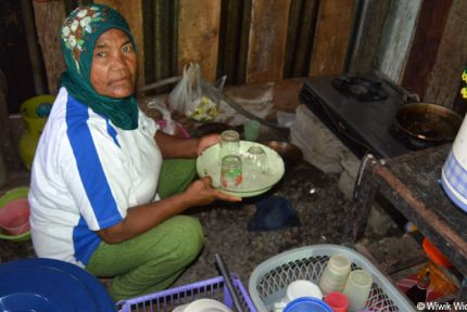 Hasna is a survivor of the Sulawesi earthquake in Indonesia