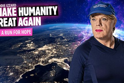 Eddie Izzard and 'Make Humanity Great Again' campaign