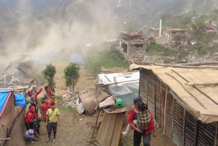 Village in ruins after second earthquake