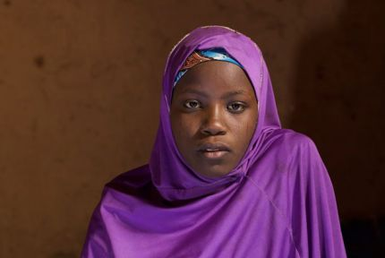 Maloum Ali, a refugee from violence in northern Nigeria