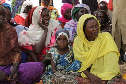 A group of refugee women in southern Niger