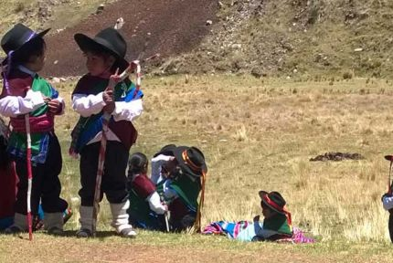 Children in Puno region, Peru