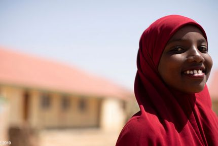 A schoolgirl in Somaliland