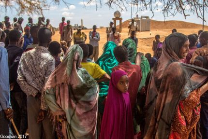 Community meeting at a village in Somaliland