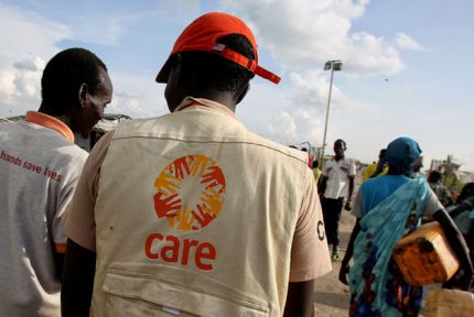 CARE humanitarian staff in South Sudan