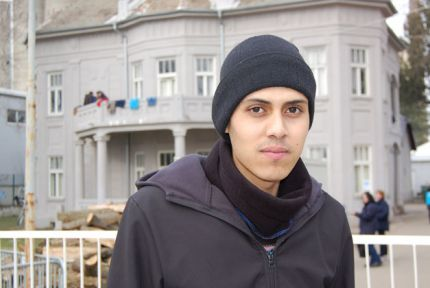 Omar Almasri, a Syrian refugee in the Balkans