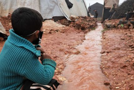 Children at a camp in northern Syria (photo taken in January 2021)