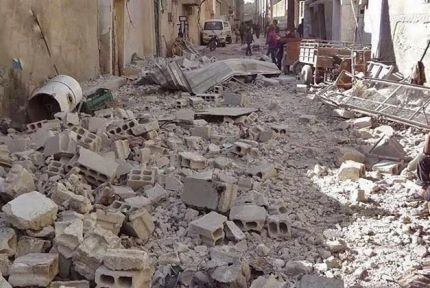 In cities across Syria, people have been forced to flee their neighborhoods, often moving multiple times, due to the bombing raids