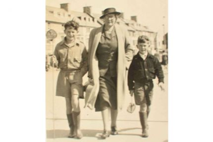 Hugh and Tim with their grandmother Chrissie Hatton