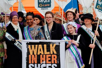 Helen Pankhurst leads CARE's 2014 Walk In Her Shoes
