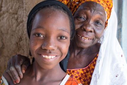 Portrait of Nana and Aboubaca in Niger