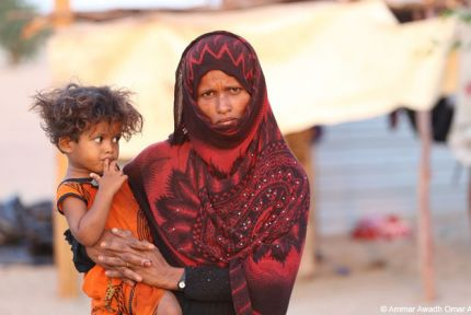 A woman and child in Yemen