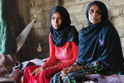 Nama'a and her daughter in Yemen