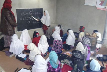 A class in a community-based school in Afghanistan © CARE