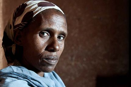 Betu spends most of each day walking to fetch water for her family. It is taking it's toll.