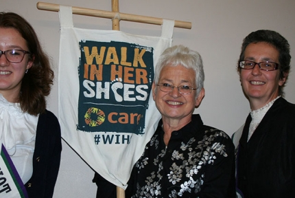 Jacqueline Wilson lends her support to Walk In Her Shoes © CARE