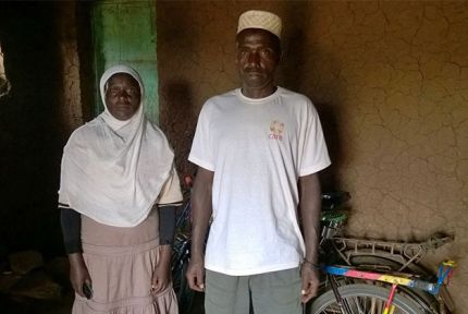 Hassina and Hassan participated in training on tackling gender-based violence