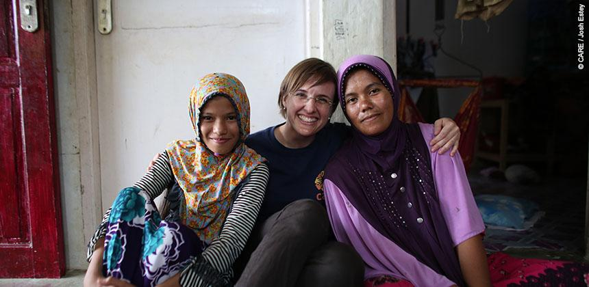 Marlina Melanie and Nuraisyah © CARE / Josh Estey