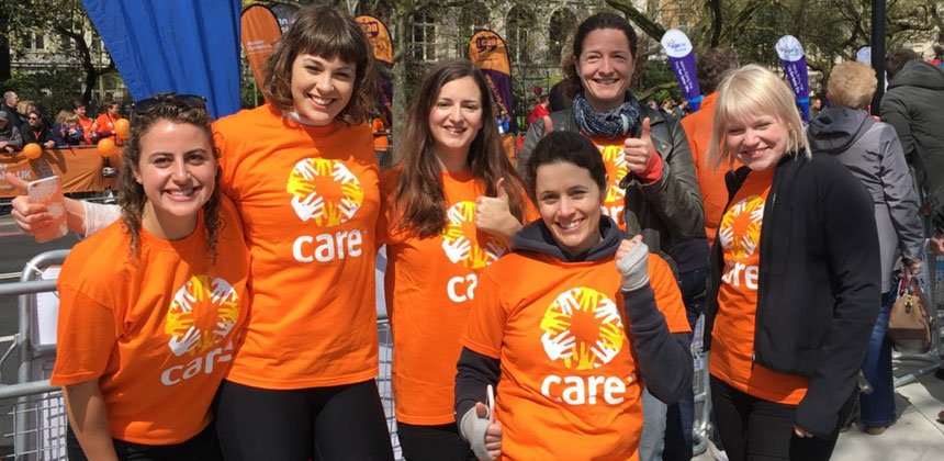 Volunteers at a CARE event