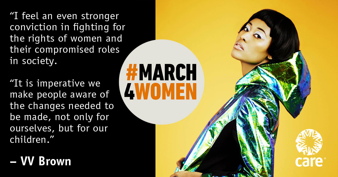 VV Brown quote for #March4Women