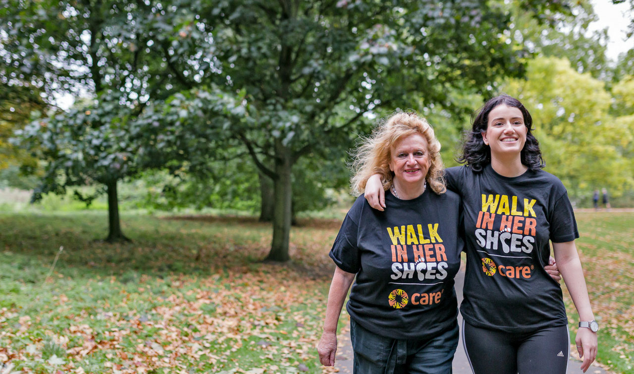 A mother and her daughter in Walk In Her Shoes T shirts
